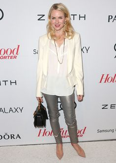 Naomi Watts knows how to play with length and texture. #chic