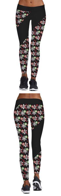 Black 3D Digital Print Active YOGA Capri Leggings#fashion #shopping #legging