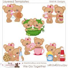 We Go Together Marshmallow Honey - Kristi W Designs Templates