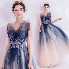 Beaded Wedding Gowns, Beaded Evening Gowns, Blue Evening Dresses, Wedding Dress, Tulle Ball Gown, Chiffon Maxi Dress, Ball Gowns, Strapless Party Dress, Blue Party Dress
