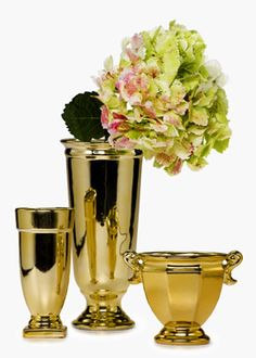 Gold Ceramic Urns