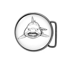 Belt buckle Shark Antiqued Silver by UniqueArtPendants on Etsy