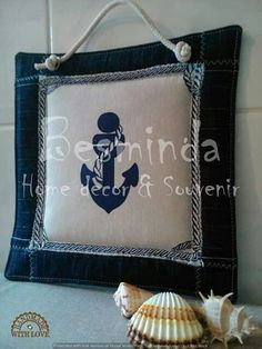 Textiles pictures, sailing, sunshine, summer, decor, souvenir, handmade