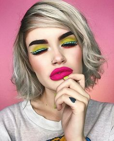 Atleeeey bright colorful makeup inspo