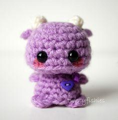 Mini Purple Amigurumi Monster