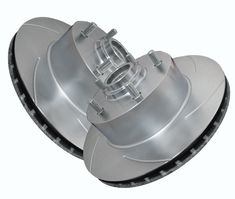 ATL Autosports Performance Brake Rotors Front Pair Fits 2004 Ford F-150 Heritage ATL54091-11SO, Silver