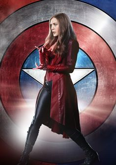 Wanda Maximoff a. the Scarlet Witch played by (Elizabeth Olsen) with Team Cap, in Captain America Civil War. This gives a great view of her Avenger attire. Marvel Dc, Marvel Comics, Wanda Marvel, Heros Comics, Marvel Women, Marvel Girls, Marvel Heroes, Marvel Wolverine, Scarlet Witch Marvel