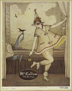 Marjory C. Woodbury, McCallum Silk Hosiery, 1920 by Gatochy, via Flickr