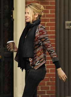 Fall look on Blake Lively