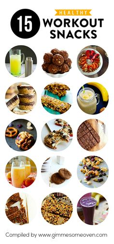15 Healthy Workout Snacks -- delicious recipes that will give you extra energy before or after a workout! | gimmesomeoven.com