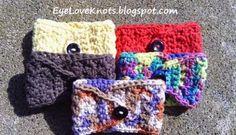 Crochet Slanted Shell Coffee Mug Cozy ~ Alexandra Richards - EyeLoveKnots