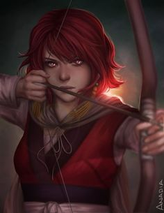 "anadia-chan: "" Akatsuki no Yona is one of my new favorites, so here is a fan art of Yona! I hope I got the fire in her eyes right :) "" Fantasy Characters, Female Characters, Anime Characters, Akatsuki No Yona, Character Portraits, Character Art, Character Ideas, Fantasy Portraits, Anime Manga"