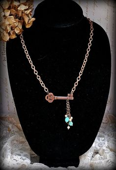Stunning Vintage Shabby Chic Turquoise Beaded by MarileeYours, $30.00