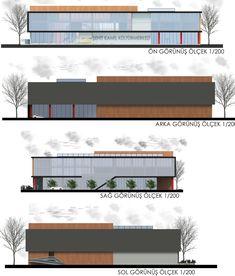 Cultural Architecture, Factory Architecture, Industrial Architecture, Facade Architecture, School Architecture, Architecture Concept Drawings, Studio, Facade Design, Building Design