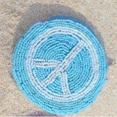 Hot Lava - peace wallet - blue