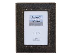 $48  Do you love a western look mixed with an elegant flair? That's what this frame is like!! This black leather picture frame in a 5x7 size is embossed with a horse and floral design. This beautiful frame is made with high quality materials and four layers that make this sturdy. We have an easel back and a Plexiglas so this frame is just waiting for your special picture! Get this to enhance your western home decor or get this for a special friend for a gift!