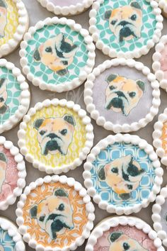Inquire today for cookie favors! We ship cookies across the United States Cookie Favors, Dog Portraits, Custom Paint, Cookie Decorating, Sugar Cookies, United States, Ship, Decorated Cookies, Tableware