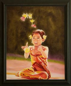"""Malee"", Little Thai Girl with Blossoms | Nersel zur Muehlen"