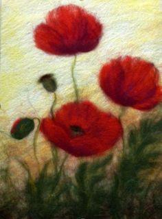 Картины, изготовленные благодаря фелтингу, очень схожи с акварелью