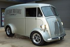 Front three-quarter view of Fitzroy Motors J-type van