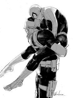 Read 💛💚💙 from the story doushijin\mangas y imagenes yaoi by with reads. Deadpool X Spiderman, Batman, Spideypool, Marvel Dc, Marvel Fan Art, Iron Man Capitan America, Thor Y Loki, Lgbt Anime, Good Omens Book