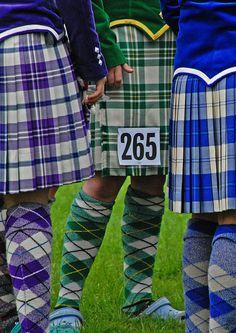 Highland dance kilts