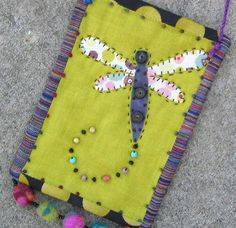 dragonfly wall quilt small folk art by gonetoseed on Etsy, $25.00