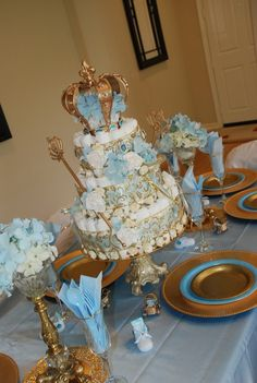 """Photo 8 of 16: Little Prince and Princess babyshower / Baby Shower/Sip & See """"Little Prince and Princess""""   Catch My Party"""