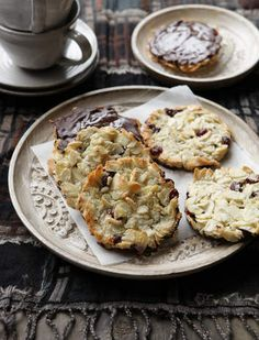 Almond, cranberry and coconut florentines.