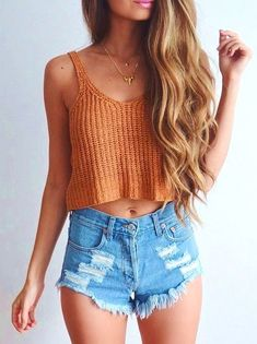 34 Viral Outfits With The Sweet N Trendy Crop Top , For More Fashion Visit Our Website cute summer outfits, cute summer outfits outfit ideas,casual outfits 34 Vira. Elegant Summer Outfits, Summer Outfits For Teens, Trendy Outfits, Casual Summer, Summer Crop Top Outfits, Uk Summer, Easy Outfits, Fashion Outfits, Outfit Summer