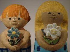 Figurines by Lisa Larson.