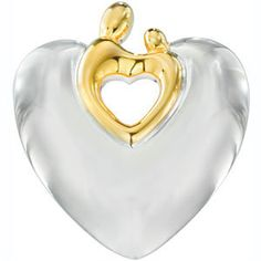 Cutout Heart Mother and Child Pendant