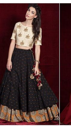 Beautiful Lehenga in shades of brown, via @topupyourtrip