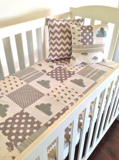 Little Cloud Crib Quilt Baby Boy or Baby girl -Ready to Ship. $165.00, via Etsy.
