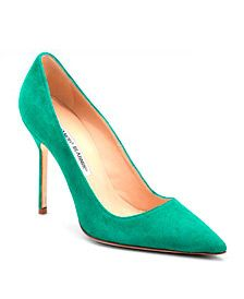 Manolo Blahnik pumps.