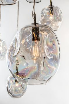 "vjeranski: "" John Pomp Studios Infinity Interior Design HAND-BLOWN SCULPTED GLASS PENDANT SEE GLASS COLOR AND METAL FINISH LISTS """