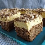 Lemon Cream Cake with Chopped Nuts Topping is among the best homemade cakes tested. Lemon Recipes, Donut Recipes, Sweets Recipes, Baking Recipes, Cake Recipes, Romanian Desserts, Romanian Food, Homemade Donuts, Homemade Cakes
