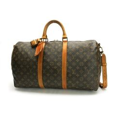 Louis Vuitton Keepall Bandouliere 50 Monogram Shoulder bags Brown Canvas M41416