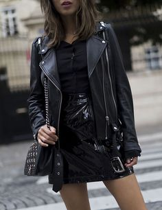 The '80s are back this season with the return of the patent leather mini skirt. Opt for a classic look and pair a patent mini with a ribbed turtleneck, and accessorize with suede pumps and...