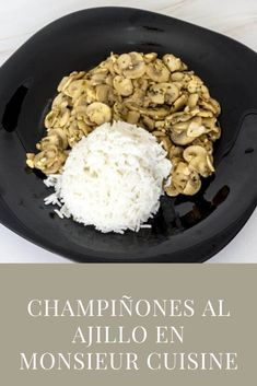 Recetas Monsieur Cuisine Plus, Recipes, Lemon Sorbet, Garlic Mushrooms, Garlic, Recipies, Ripped Recipes, Cooking Recipes
