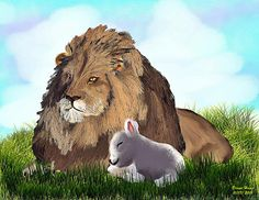 Lion and the Lamb by lynnkah