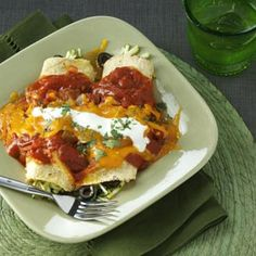 Zucchini Enchiladas - great recipe for those with abundant zucchini in your garden.