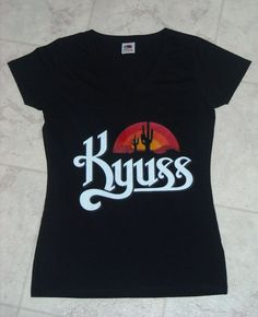 36c2328bb16 Women s Kyuss Black T-Shirt Desert Rock Stoner Band Queens of the Stone Age