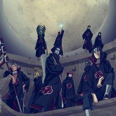 The Akatsuki group from the anime manga Naruto… 3b16ea62be9e2