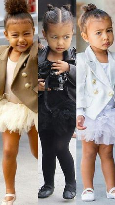North West is adorable. Kim And Kanye, Kim Kardashian And Kanye, Kardashian Style, Kardashian Fashion, Kardashian Family, Cute Kids Fashion, Girl Fashion, Cute Mixed Kids, Jenner Kids