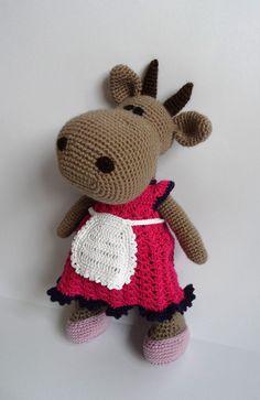 Patrón de juguete ganchillo patrón de vaca vaca por jelenateperik