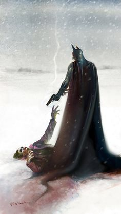 Spectacular Comic Book Illustrations by Josep Baixauli — GeekTyrant.... Awesome art of Batman vs the Joker.