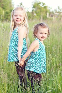 Sister pose for aspen & Ivy