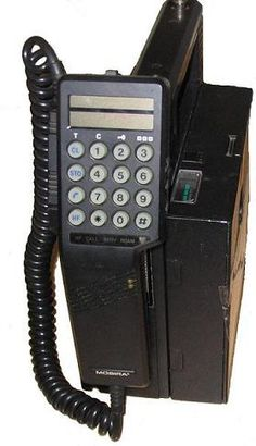 Mobira (Nokia)Talkman 450, this was first mobile phone that I used, I carried it home every night, it weighed 4 kg