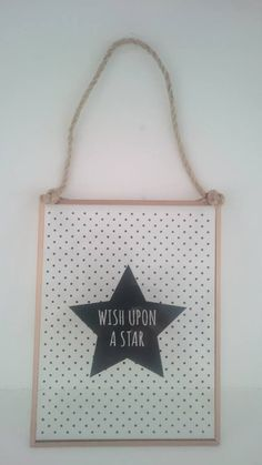 Wish Upon a Star Glass hanging plaque £4.50